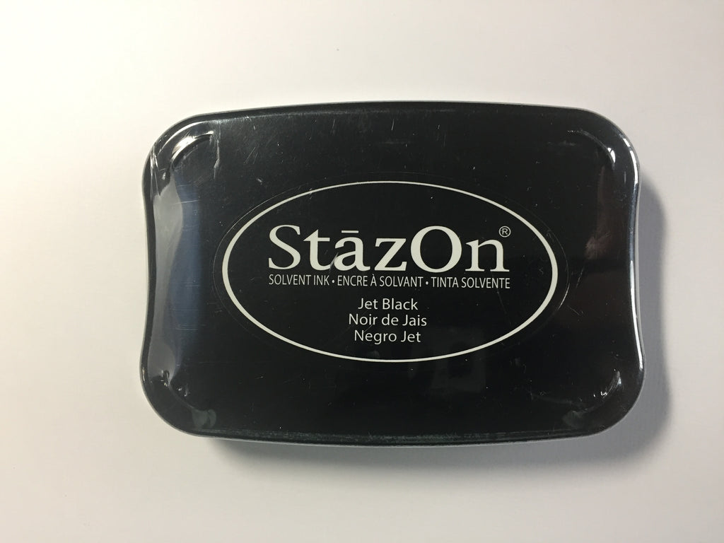 Stazon Ink pad Jet Black - Scrap of Paradise