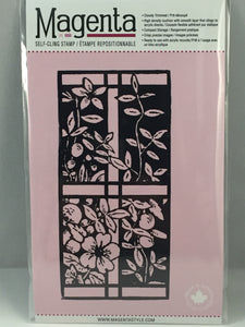 Flower Rectangle Magenta Stamp - Scrap of Paradise