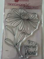 Woodware Clear Stamp Whimsical Flower Alice