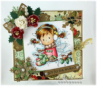 Holly Whimsy Stamp - Scrap of Paradise