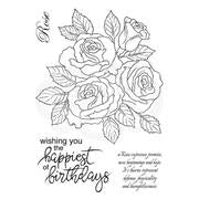 Woodware Clear Stamp Rose Bunch