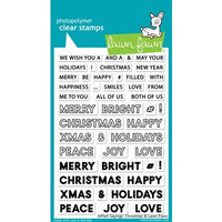 "Lawn Fawn Clear Stamps 4""X6"" Offset Sayings: Christmas"