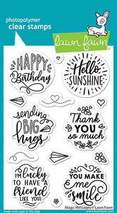 Lawn Fawn Stamp Set Magic Messages