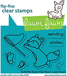 Lawn Fawn Stamp Set Butterfly Kisses Flip Flop