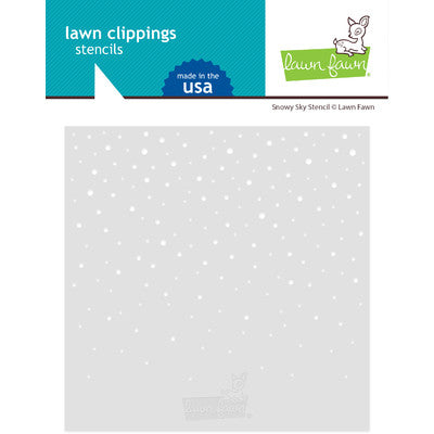 Lawn Clippings Stencils Snowy Sky