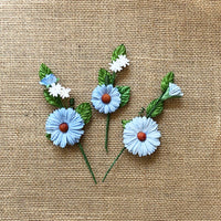 49 and Market Daisy Stems Cornflower