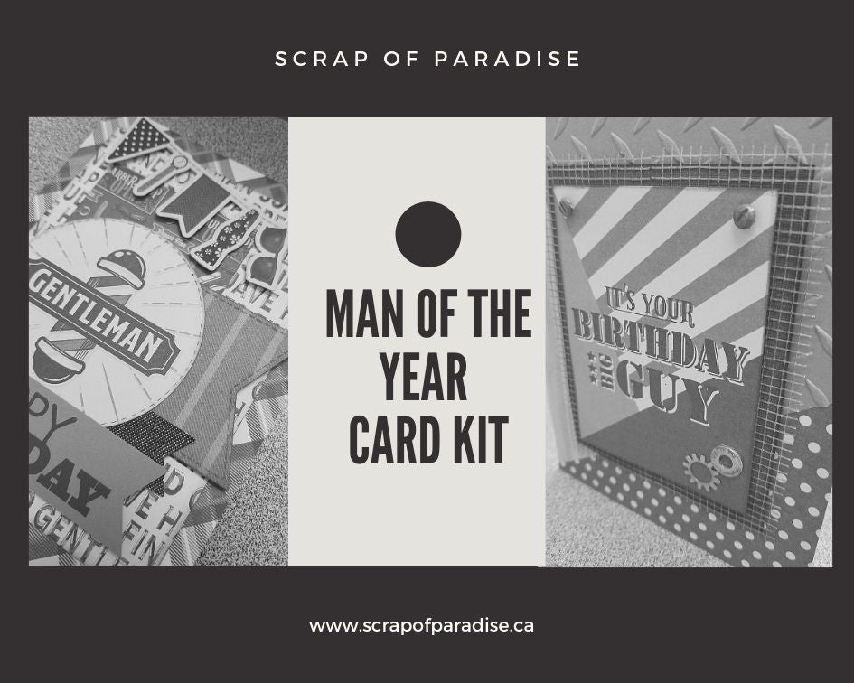 Man of the Year Card Kit by Scrap of Paradise - 2