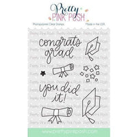 Pretty Pink Posh Clear Stamp, Congrats Grad