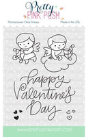 Pretty Pink Posh Clear Stamp, Cupid Friends