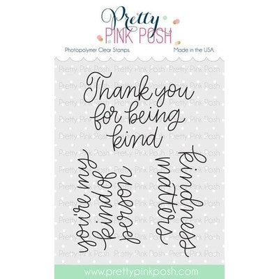Pretty Pink Posh Clear Stamp, Simple Sayings: Kind