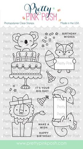 Pretty Pink Posh Stamp Set - Party Friends