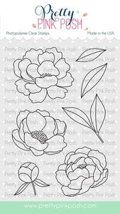 Pretty Pink Posh Clear Stamp, Peonies