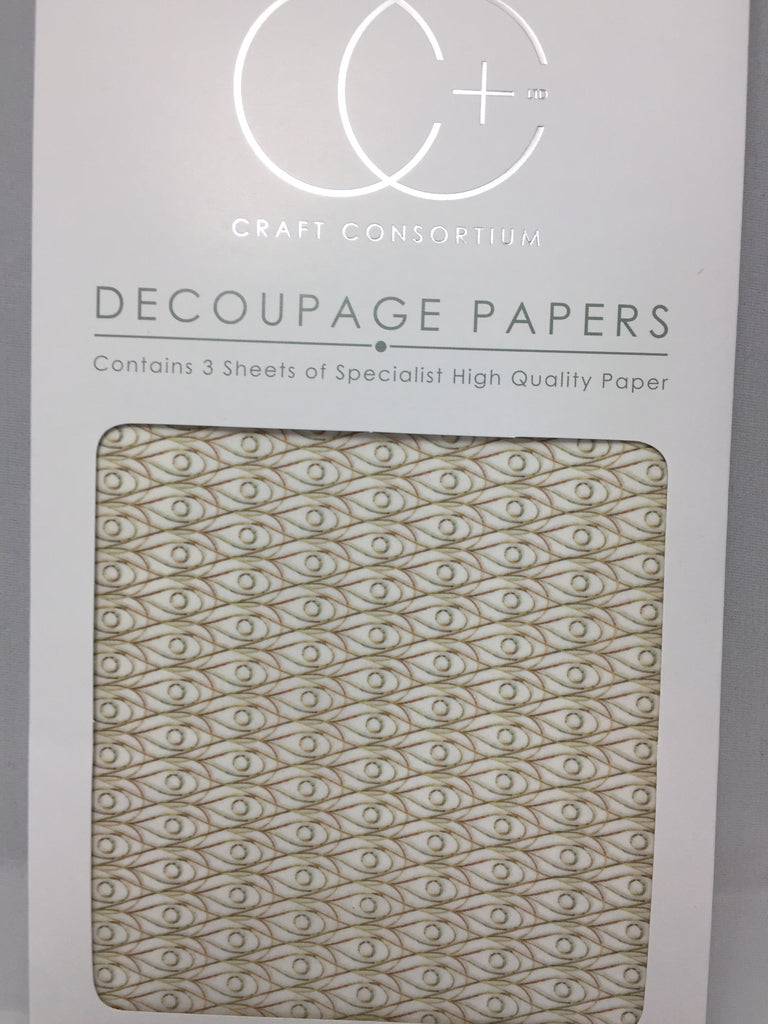 Gold Droplet Decoupage Papers 35 x 40 cm pk of 3