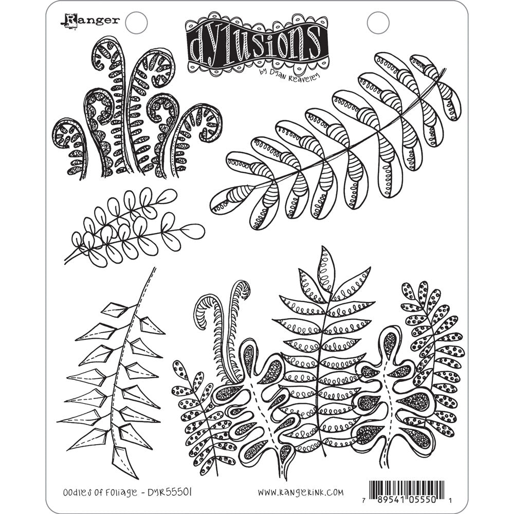 Dylusions Stamp Set Oodles of Foliage