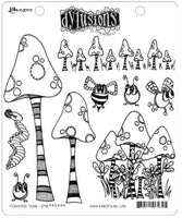 Dylusions Stamp Set Toadstool Town
