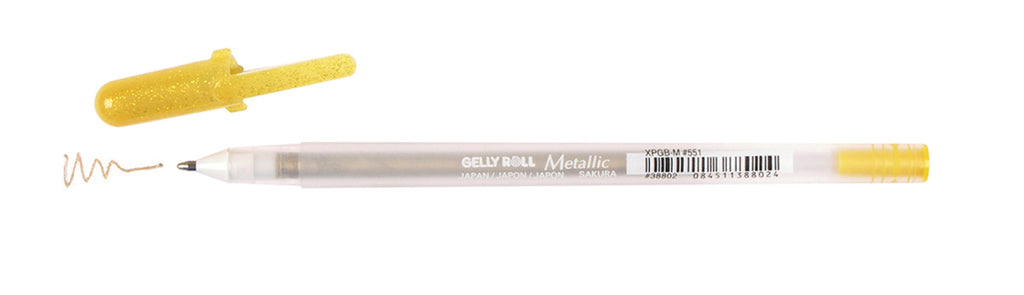 Gelly Roll Metallic Medium Point Pen Gold