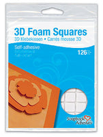 Foam 3D Squares - White 126 pieces
