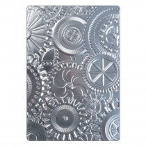 "Sizzix 3-D Mechanics Embossing Folder 6.5"" x 4.5"""