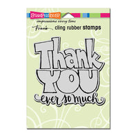 Great Big Thanks Stampendous Cling Stamp