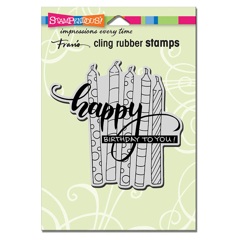 Candle Wish Stampendous Cling Stamp