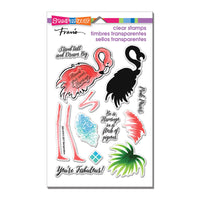 Flamingo Messages Stampendous Clear Stamp