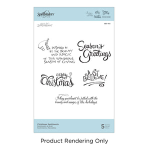 Spellbinder Stamp Christmas Sentiments