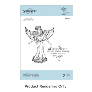 Spellbinder Stamp Joyful Season Angel