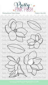 Pretty Pink Posh Clear Stamp, Magnolia Flowers