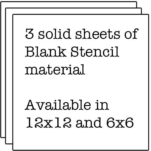 Blank Stencil Sheets The Crafters Workshop 12 x 12 Stencil