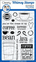 Coffee Break Clear Whimsy Stamp