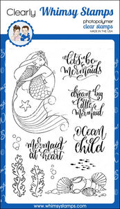 Lets Be Mermaids Clear Whimsy Stamp