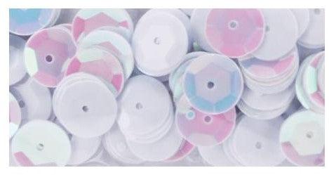 Cupped Sequins 8mm 200/Pkg White Iridescent