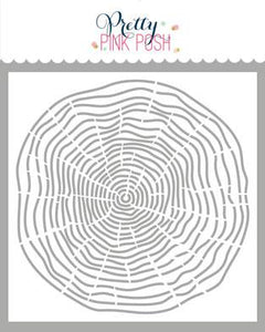 Pretty Pink Posh Stencil - Woodgrain Circle