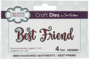 Creative Expressions Craft Dies By Sue Wilson Mini Expressions- Best Friend