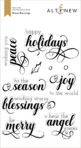 Altenew Warm Blessings Stamp Set
