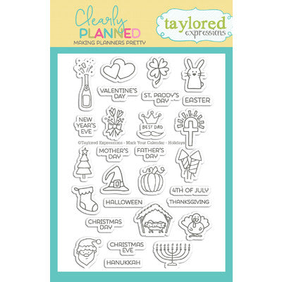 Mark Your Calendar - Holidays Taylored Expressions Stamp Set