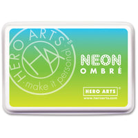Hero Art Ombre Ink Pad Neon Chartreuse to Blue
