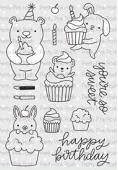 Pretty Pink Posh Stamp Set - Cupcake Critters