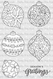 Pretty Pink Posh Stamp Set - Decorative Ornaments