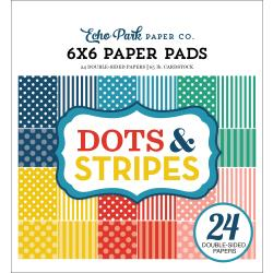 Echo Park Dots & Stripes 6 x 6 Paper Pad