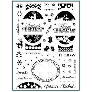 Gina K Designs Stamp Set Fabulous Holiday Labels