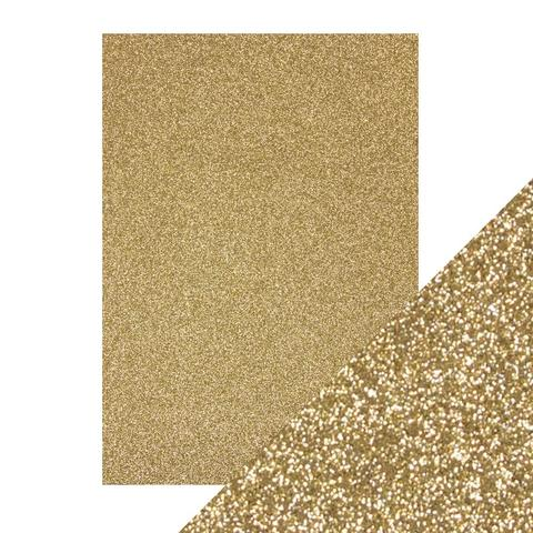 "Tonic Glitter Card Stock Paper Pack Gold Dust 8.5"" x 11"""