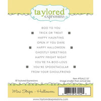 Taylored Expressions Cling Stamp, Simple Mini Strips Halloween