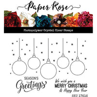 Paper Rose Hanging Ornaments Stamp Set