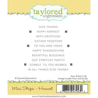 Taylored Expressions Cling Stamp, Simple Mini Strips Harvest