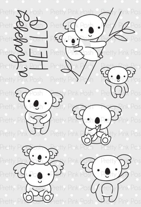 Pretty Pink Posh Stamp Set - Koala Friends