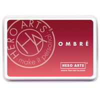 Hero Art Ombre Ink Pad Light to Red Royal