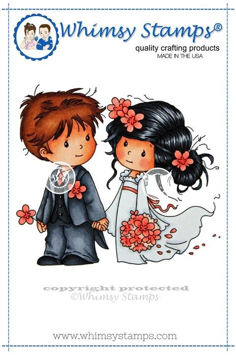 Whimsy Love Me Do Rubber Cling Stamp 3.6 x 3.1
