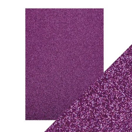 "Tonic Glitter Card Stock Paper Pack Nebula Purple 8.5"" x 11"""