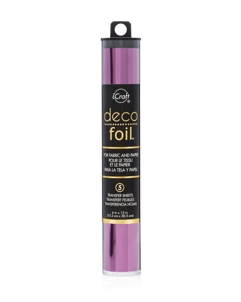 "Deco Reactive Foil 5 pieces 6"" x 12"" Plum"